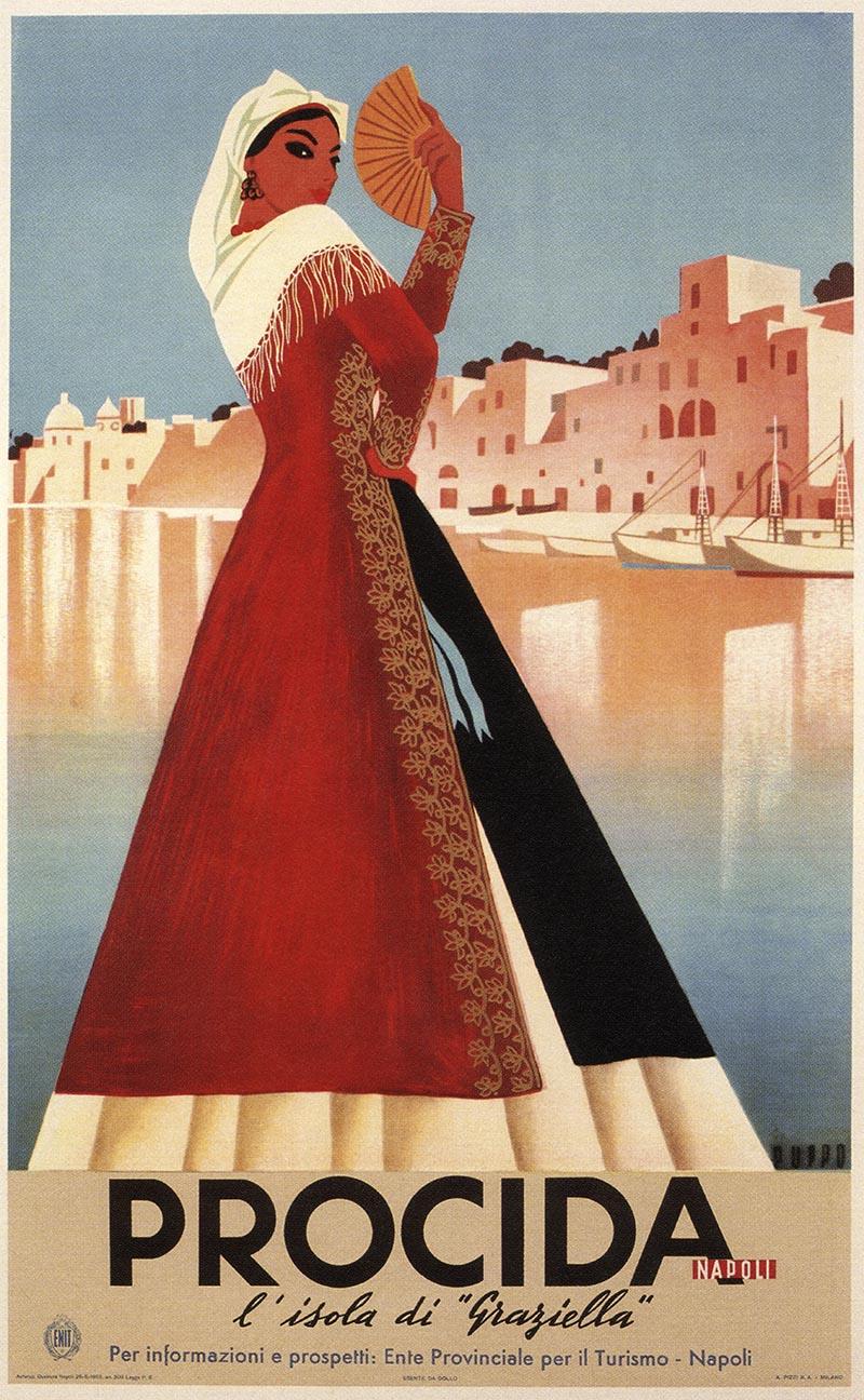 poster-vintage-campania-Procida