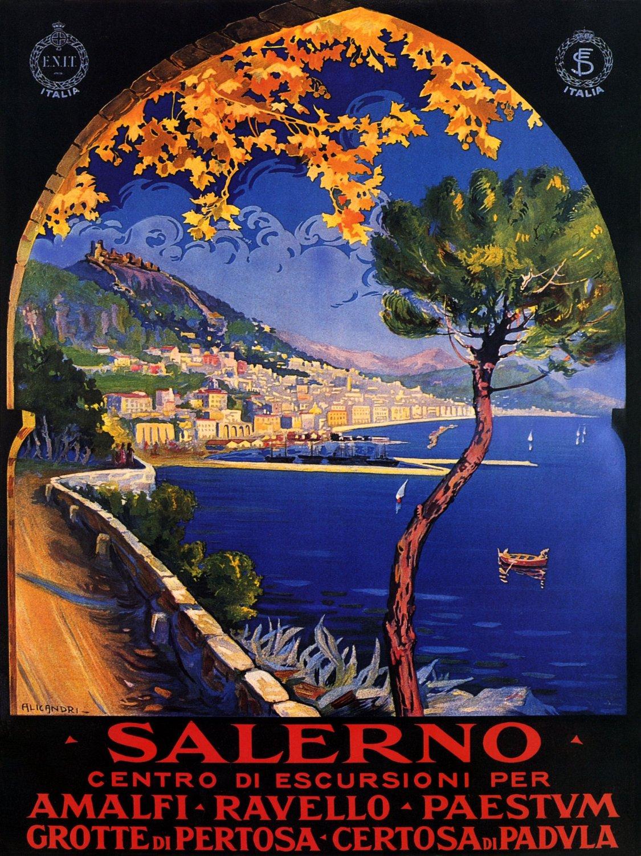 poster-vintage-campania-Salerno