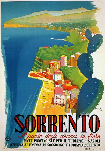 poster-vintage-campania-Sorrento 1942
