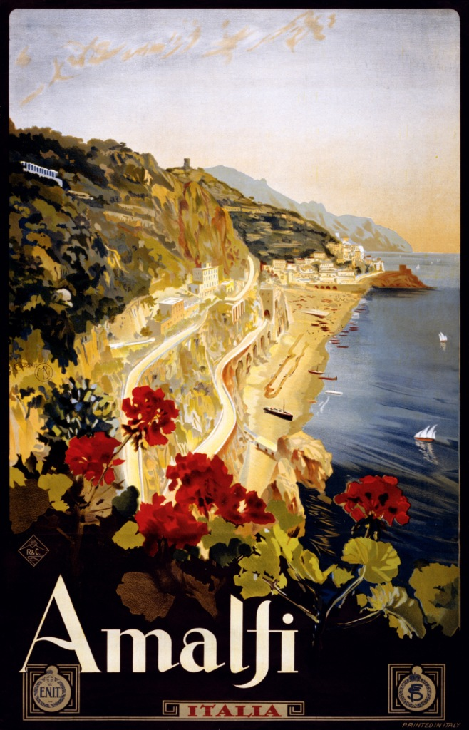 poster-vintage-campania-amalfi