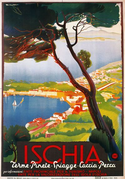poster-vintage-campania-ischia 1940