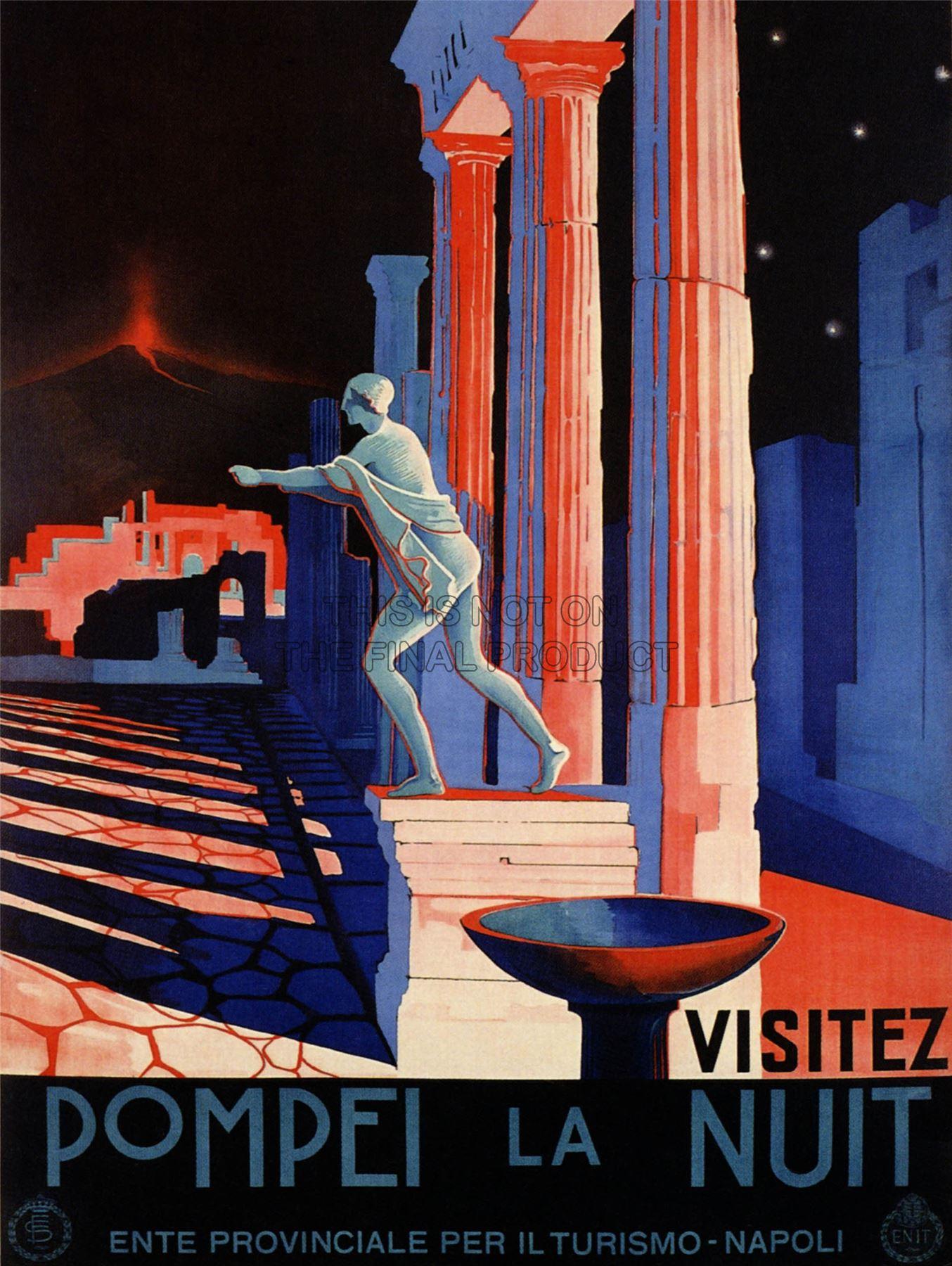 poster-vintage-campania-pompei